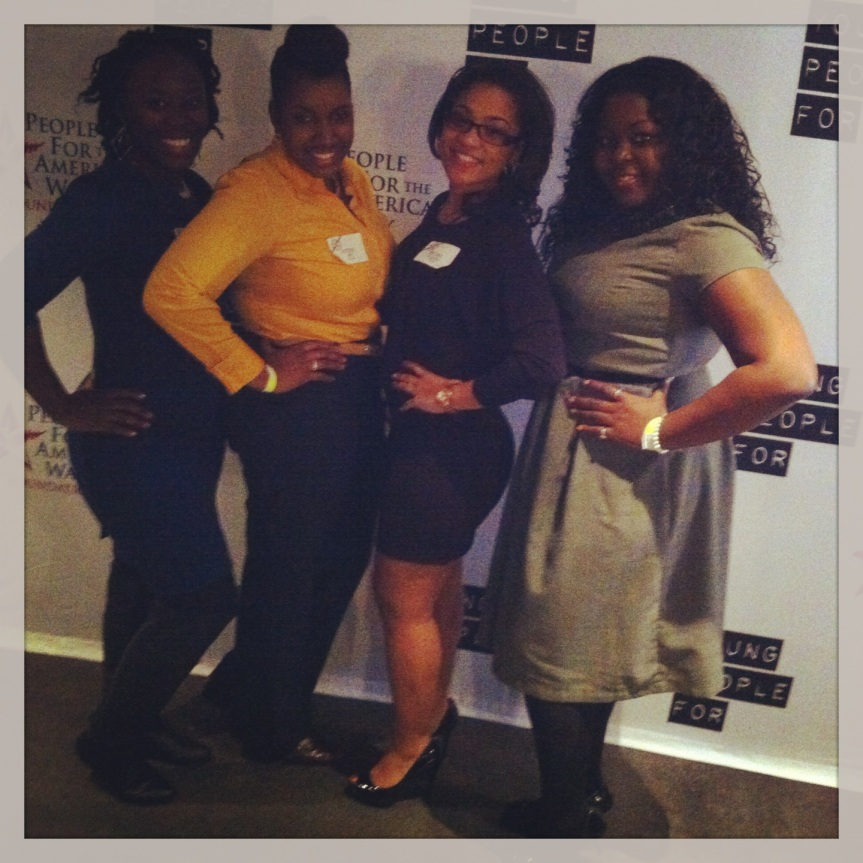 #BOW Black Outstanding and Wonderful -from left to right: Antoinette West, Ky' eisha Penn,  Brittany Stallworth, Dorthea E. Thomas (me)