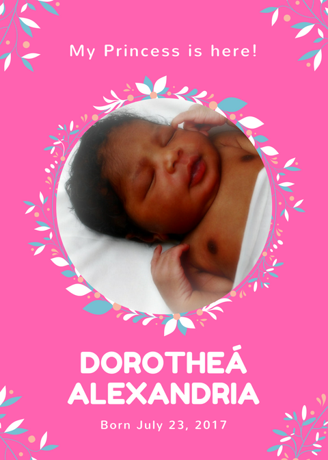 Announcing my daughter's birth… my Princess ishere!
