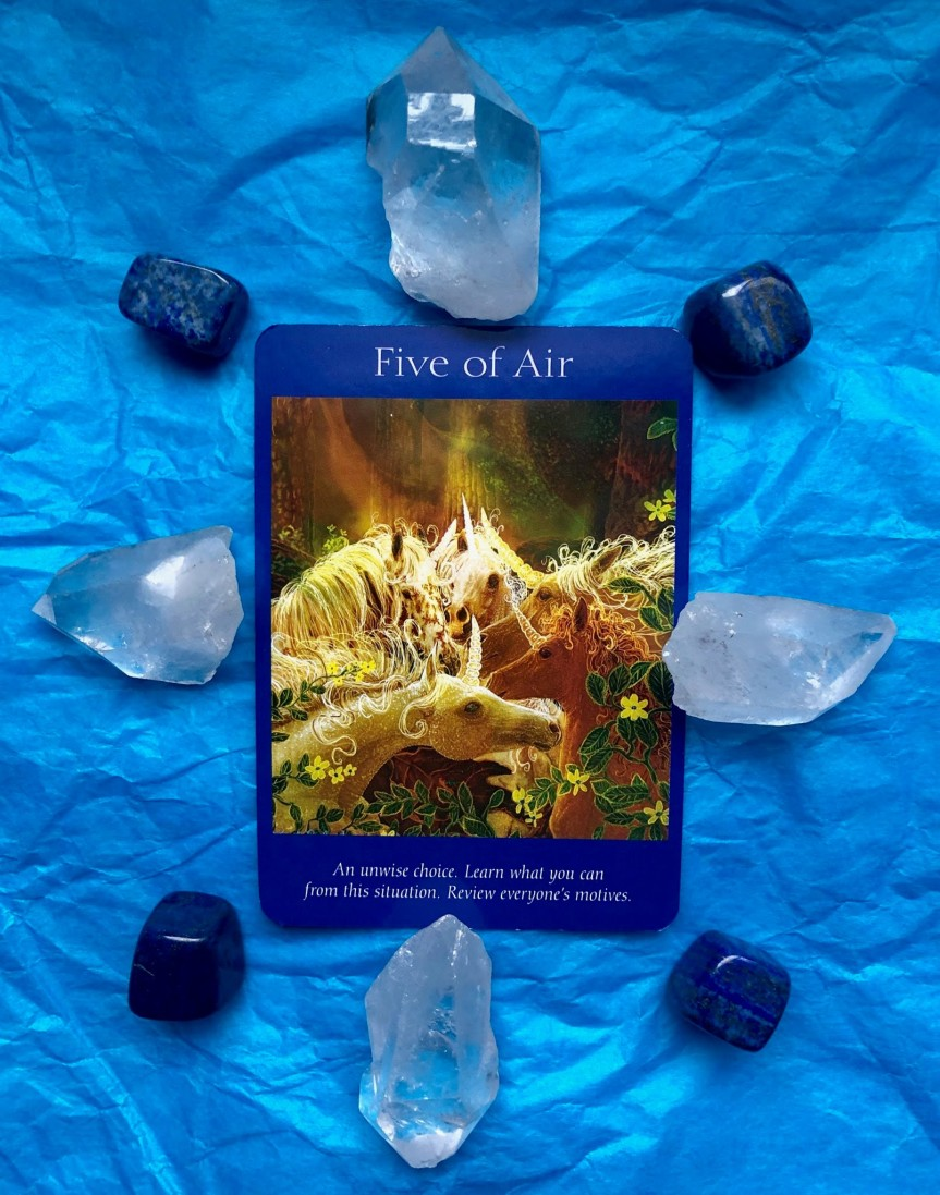 Top of the day Angel Tarot Reading: Five of Air